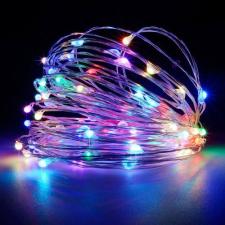 10 méteres Micro LED-es elemes fényfűzér (Színes) karácsonyi dekoráció
