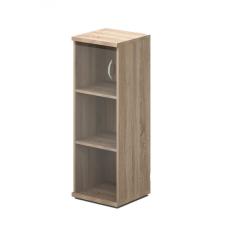 117-1Ü-B Vénusz irodabútor, Három rendező magas üvegajtós félszekrény, balos kialakításban, A/4 polcosztással bútor