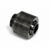13/10mm (10x1,5mm) compression fitting outer thread 1/4 - compact - black nickel