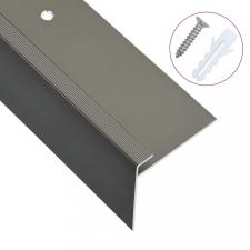 15 db barna F-alakú alumínium lépcső élvédő 90 cm építőanyag