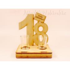 18. születésnapra pálinkás pohár szett -Születésnapi ajándékok ajándéktárgy