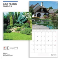 19T0098-003 - SZÉP KERTEK LEMEZNAPTÁR - 2019 naptár, kalendárium