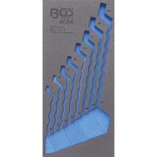1/3 szerszámtálca szerszámkocsihoz, üresen:  8 részes hajlított csillag-csillagkulcs készlethez, 6x7-20x22 mm (nem tartozék) (BGS 4084-1) autójavító eszköz