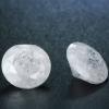 1 db csillogó cirkóniakő-jégkristály, hófehér