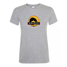 2019 október TerraPlaza logo grey melange női póló női póló