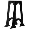 2 db ívelt, öntöttvas étkezőasztal láb A-alakú vázzal