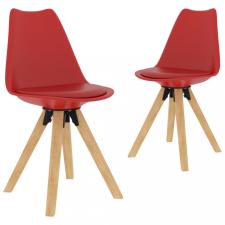 2 db piros étkezőszék bútor