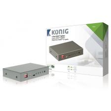 2-Port HDMI Elosztó Sötétszürke audió/videó kellék, kábel és adapter