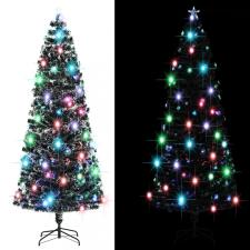 380 ágas műkarácsonyfa talppal és LED fénnyel 240 cm kerti dekoráció
