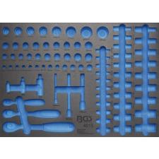 3/3 Szerszámtálca szerszámkocsikhoz, üresen: racsnis hajtókarok és dugókulcs fejek számára (nem tartozék) (BGS 4015-5) autójavító eszköz