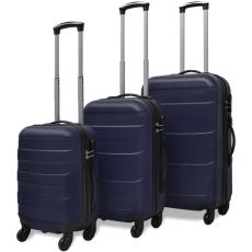 3 darabos kemény borítású utazó táska szett kék