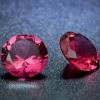 3 db csillogó cirkóniakő - rózsaszín