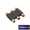 3 RCA toldó aljzat - aljzat adapter
