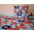 3 részes akciós ágynemű garnitúra: 135x200 cm normál paplan + nagypárna és kispárna, narancs - barna virágos