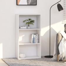 3-szintes fehér forgácslap könyvszekrény 60 x 30 x 114 cm bútor