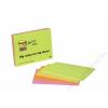 3M POSTIT Meeting chart, öntapadó, 4x45 lap, 14,9x9,8 cm, 3M POSTIT, vegyes színek (LP6445)