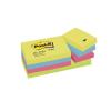 3M POSTIT Öntapadó jegyzettömb, 38x51 mm, 100 lap, 3M POSTIT, energikus színek