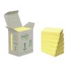 3M POSTIT Öntapadó jegyzettömb, 38x51 mm, 100 lap, környezetbarát, , sárga