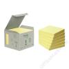 3M POSTIT Öntapadó jegyzettömb, 76x76 mm, 100 lap, környezetbarát, 3M POSTIT, sárga (LP6541B)