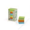 3M POSTIT Öntapadó jegyzettömb, 76x76 mm, 100 lap, környezetbarát, 3M POSTIT, szivárvány színek (LPK654-1RPT)
