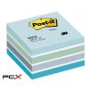 3M POSTIT Öntapadó jegyzettömb, 76x76 mm, 450 lap, 3M POSTIT, aquarell kék