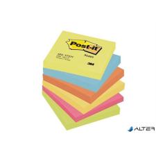 3M POSTIT Öntapadó jegyzettömb, 76x76 mm, 6x100 lap, 3M POSTIT, energikus színek jegyzettömb