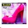 """3M Scotch Ragasztószalag-adagoló, asztali, feltöltött,  """"Stiletto"""", pink"""