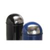 4585 Hulladékgyűjtő fém betéttel - fekete 40 l