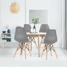 4 db modern étkezőszék, szürke bútor