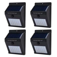 4 db-os falra szerelhető, szolár világítás kültéri világítás
