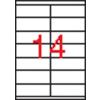 APLI 2 pályás etikett, 105 x 40 mm, 1400 etikett/csomag