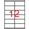 APLI 2 pályás etikett, 105 x 48 mm, 6000 etikett/csomag