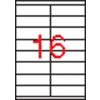 APLI 2 pályás etikett, 105 x 35 mm, 4000 etikett/csomag
