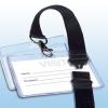 APLI nyakba akasztható, biztonsági csattal ellátott névkitűző, 90x56 mm