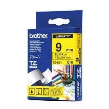 Brother 9 mm-es szalag sárga alap/fekete betű nyomtató kellék