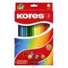 KORES TRIANGULAR színes ceruza, háromszögletű, 36 db/doboz