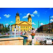 Stiefel Eurocart Kft. Debrecen tányéralátét könyöklő   hátoldalon Debrecen várostérképe tányér és evőeszköz