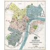 Stiefel Eurocart Kft. Szeged Szabad Királyi város térképe fakeretben