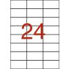 APLI 3 pályás áttetsző etikett, 70 x 37 mm, matt, 480  etikett/csomag