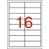 APLI 2 pályás színes etikett, 105 x 37 mm, piros, 320  etikett/csomag