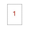 APLI 1 pályás színes etikett, 210 x 297 mm, piros, 100  etikett/csomag