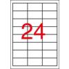 APLI 3 pályás színes etikett, 70 x 37 mm, piros, 2400  etikett/csomag