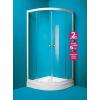 OLSEN Spa Madrid íves zuhanykabin+tálca 80x80, króm keret, matt üveg