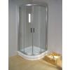 Ravak NRKCP4-80 Szatén+Transparent Rapier - negyedköríves zuhanykabin