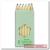 6 színes ceruza, kicsi