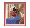 NN . Kézi csomagzáró gép, 75 mm papírárú, csomagoló és tárolóeszköz