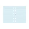 FILOFAX jegyzetlapok, vonalas, kék színű, pocket méret