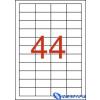 APLI 4 pályás etikett 48 5 x 25 4 mm 22.000 etikett/csomag 500 lap/csom