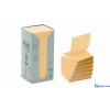 3M/POSTIT Környezetbarát Z-jegyzettömb torony 76 × 76 mm sárga 16db/csom