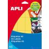 APLI Körcímke 16 mm átmérő piros A5 88 etikett/lap 704 etikett/csomag